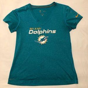 Woman's Nike Dri-Fit Miami Dolphins Shirt Medium